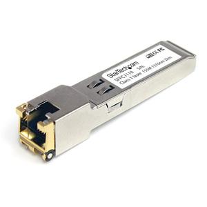 StarTech.com Cisco SFP-GE-T Compatible - Gigabit SFP - 10/100/1000 Mbps - RJ45 Port - 1000Base-T - Copper SFP - GBIC Modul