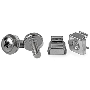 StarTech.com 50 Pkg M5 Mounting Screws and Cage Nuts for Server Rack Cabinet - Install your rack-mountable hardware secure