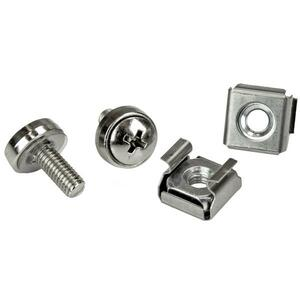 StarTech.com 100 Pkg M5 Mounting Screws and Cage Nuts for Server Rack Cabinet - Rack Screw, Cage Nut - Stainless Steel - S