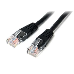 StarTech.com 15m Cat5e Patch Cable with Molded RJ45 Connectors - Black - Cat5e Ethernet Patch Cable - 15 m UTP Cat 5e Patc