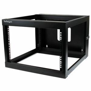 StarTech.com 6U 56cm 22in. Depth Hinged Open Frame Wall Mount Server Rack - Open Frame Rack Cabinet Wallmount Server Rack