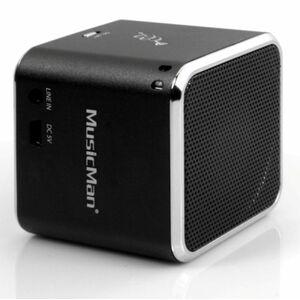 Technaxx MusicMan BT-X2 Portable Bluetooth Speaker System - Silver - Battery Rechargeable