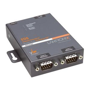 Lantronix EDS2100 Device Server - Twisted Pair - 1 x Network (RJ-45) - 2 x Serial Port - 10/100Base-TX - Fast Ethernet