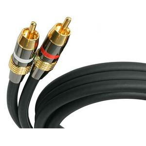 StarTech.com 50 ft Premium Stereo Audio Cable RCA - M/M - RCA Male - RCA Male - 50ft - Black