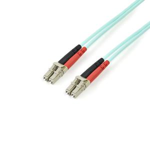 StarTech.com 3m Fiber Optic Cable - 10 Gb Aqua - Multimode Duplex 50/125 - LSZH - LC/LC - OM3 - LC to LC Fiber Patch Cable