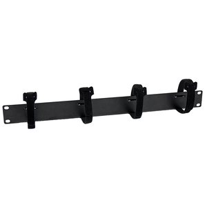 StarTech.com Cable Management Panel with Hook and Loop Strips for Server Racks - 4-Loop Cable Organizer - 1U - 1U Height -