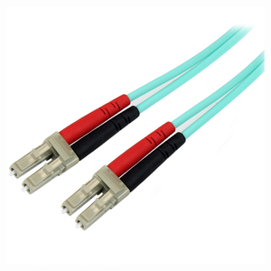 StarTech.com 3m Fiber Optic Cable - 10 Gb Aqua - Multimode Duplex 50/125 - LSZH - LC/LC - OM3 - LC to LC Fiber Patch Cable