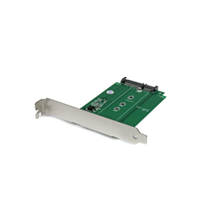 StarTech.com M.2 to SATA Expansion Slot Mounted SSD Adapter - NGFF Solid State Drive to SATA Converter - PCI or PCI-expres