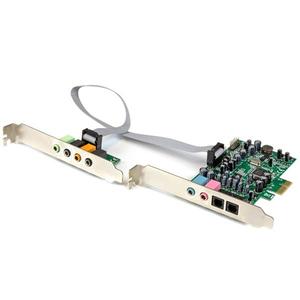 StarTech.com Tarjeta de sonido PCI Express con sonido envolvente de 7.1 canales 24bit 192 kHz - C-Media - PCI Express x1 -