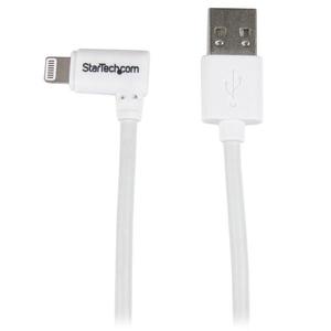 StarTech.com Cable de 1m Lightning Acodado a USB - Blanco - Extremo prinicpal: 1 x Tipo A Macho USB - Extremo Secundario: