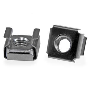 StarTech.com M6 Cage Nuts - 100 Pack - M6 Mounting Cage Nuts for Server Rack & Cabinet - Cage Nut - Stainless Steel - Silv