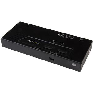 StarTech.com Switch Selector Matricial HDMI de 2x2 - Conmutado Rápido 4K - 3840 × 2160 - 4K - 2 Dispositivo de Entrada - 2