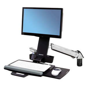 """Brazo Combo para trabajar sentado y de pie Ergotron StyleView, para Monitores <24"""" y peso hasta 13.2 kgs, Montaje en pared"""