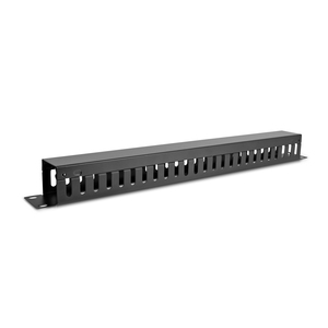 "V7 Horizontal Cable Management - Black - 1U Rack Height - 19"" Panel Width - Cold Rolled Steel"