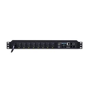 CyberPower PDU81001 8-Outlet PDU - NEMA 5-15P - 8 x NEMA 5-15R - 120 V AC - Network (RJ-45) - 1U - Rack-mountable