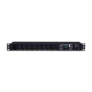 CyberPower PDU81006 8-Outlet PDU - NEMA L6-20P - 8 x IEC 60320 C13 - 230 V AC - Network (RJ-45) - 1U - Rack-mountable