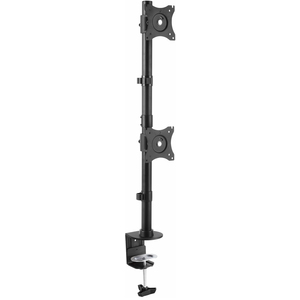 "StarTech.com ARMDUALV Desk Mount for Monitor - Black - 2 Display(s) Supported68.6 cm (27"") Screen Support - 20 kg Load Cap"
