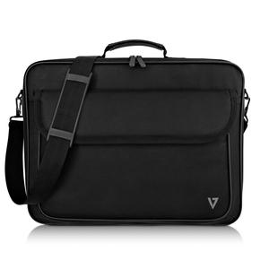 "V7 Essential CCK16-BLK-3N Carrying Case (Briefcase) for 16.1"" Notebook - Black - 600D Polyester, 210D Polyester Interior -"