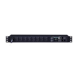 CyberPower PDU31001 Monitored PDU, 100-120V, 15A, 8 NEMA 5-15R Outlets, 1U Rackmount - Monitored - NEMA 5-15P - 8 x NEMA 5