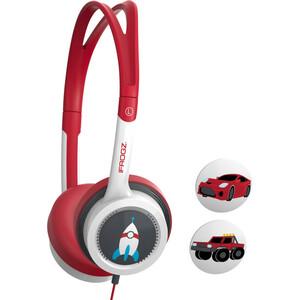 ifrogz Little Rockerz Wired Over-the-head Binaural Stereo Headphone - Red, Black - Supra-aural - 1.20 m Cable - Mini-phone