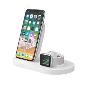 BELKIN 7.5W WIRELESS CHARGE DOCK IPHONE + APPLE WATCH WHITE