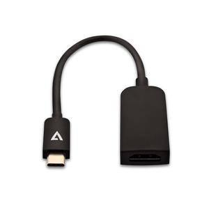 Cavo A/V V7 V7UCHDMISL-1E - 10 cm HDMI/USB - for MacBook, PC, Monitor, TV, Dispositivo audio/video - Estremità 1: 1 x Tipo