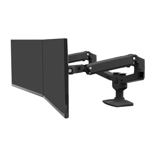 """Ergotron Mounting Arm for Monitor - Matte Black - 2 Display(s) Supported68.6 cm (27"""") Screen Support - 18.10 kg Load Capacity"""
