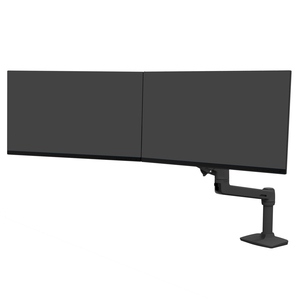 """Ergotron Mounting Arm for Monitor - Matte Black - 2 Display(s) Supported63.5 cm (25"""") Screen Support - 10 kg Load Capacity"""