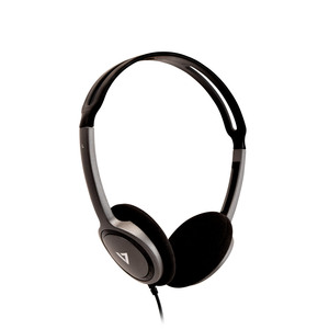 V7 HA310-2EP Wired Over-the-head Stereo Headphone - Black - Supra-aural - 32 Ohm - 1.80 m Cable - Mini-phone (3.5mm)