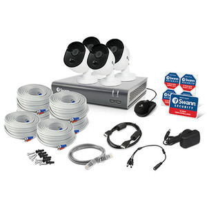 Swann SWDVK-845804V 8 Channel Night Vision Wired Video Surveillance System 1 TB HDD - Digital Video Recorder, Camera - 192