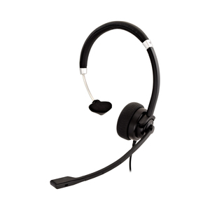 V7 Deluxe HA401 Wired Over-the-head Mono Headset - Black, Silver - Monaural - Supra-aural - 31.50 Hz to 20 kHz - 180 cm Ca