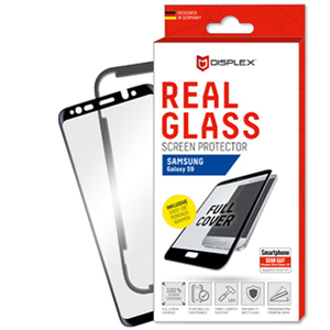 """Displex Real Glass Tempered Glass, Composite Screen Protector - Crystal Clear - For 15.5 cm (6.1"""") LCD iPhone - Scratch Re"""
