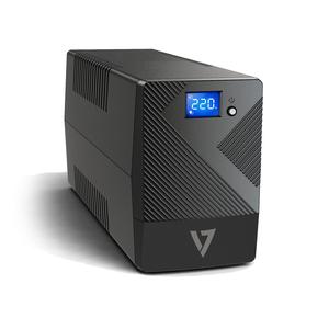 V7 UPS1P600E Line-interactive UPS - 600 VA/360 W - Desktop - AVR - 6 Hour Recharge - 230 V AC Input - 4 x AC Power
