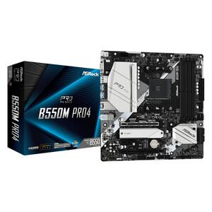 ASRock B550M Pro4 Desktop Motherboard - AMD Chipset - Socket AM4 - Micro ATX - 128 GB DDR4 SDRAM Maximum RAM - DIMM, UDIMM