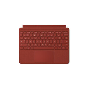 Microsoft Signature Type Cover Keyboard/Cover Case Microsoft Surface Go Tablet - Poppy Red - Alcantara - 190.5 mm Height x