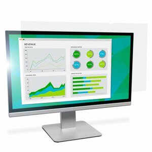 """3M Anti-glare Standard Screen Filter - Clear, Matte - For 68.6 cm (27"""") Widescreen LCD Monitor - 16:9 - Scratch Resistant,"""