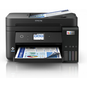 Epson EcoTank L6290 Wireless Inkjet Multifunction Printer - Colour - Black - Copier/Fax/Printer/Scanner - 33 ppm Mono/20 p