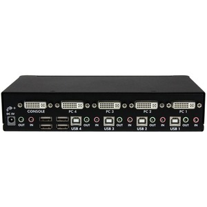 StarTech.com StarTech.com 4 Port High Resolution USB DVI Dual Link KVM Switch with Audio - Control up to 4 high resolution