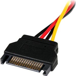 StarTech.com Adattatore di alimentazione SATA a LP4, 15 cm - F/M - Per Disco rigido - Serial ATA / LP4 - Nero