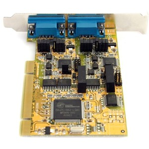 StarTech.com 2 Port RS232/422/485 PCI Serial Adapter w/ ESD - Universal PCI - PC - 2 x Number of Serial Ports External