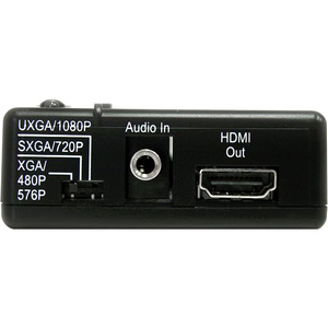 StarTech.com Composite and S-Video to HDMI® Converter with Audio - Functions: Signal Conversion - 1600 x 1200 - PAL, NTSCH
