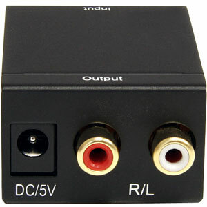 StarTech.com SPDIF Digital Coaxial or Toslink Optical to Stereo RCA Audio Converter - 1 x RCA Female Audio, 1 x Toslink Fe