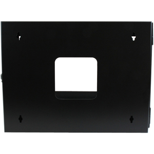 "StarTech.com 6U Hinged Open Frame Wall Mount Network Rack - 4-Post 22"" Depth Swing Out Computer Equipment Rack - 110lbs ca"