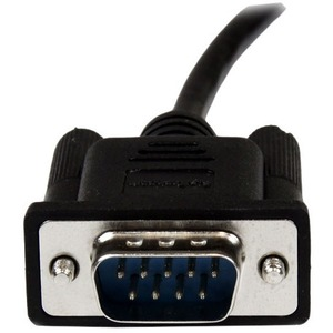StarTech.com 1m Black DB9 RS232 Serial Null Modem Cable F/M - DB9 Male to Female - 9 pin Null Modem Cable - 1x DB9 (M), 1x