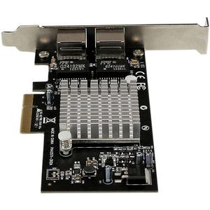 StarTech.com Dual Port PCI Express (PCIe x4) Gigabit Ethernet Server Adapter - 2 Port Network Card - Intel i350 NIC - GbE