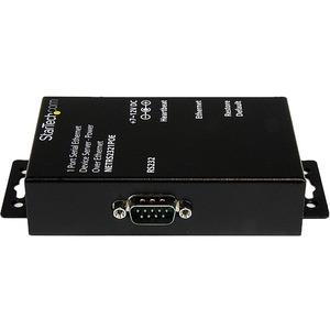 StarTech.com Servidor de Dispositivos Serie de 1 Puerto RS232 con Power over Ethernet PoE - Conversor Serial a Red IP - Pa
