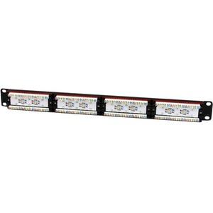 "StarTech.com Panel de Parcheo 1U Cat6 110 con 24 Puertos para Montaje en Rack - 24 x RJ-45 - 24 x RJ-11 - 1U Alto - 19"" An"