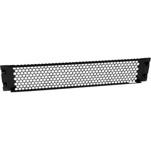 StarTech.com Pannello Cieco per Armadi e Rack con fessure e cerniere 2U - Mascherina Frontale Ventilata per rack - Acciaio