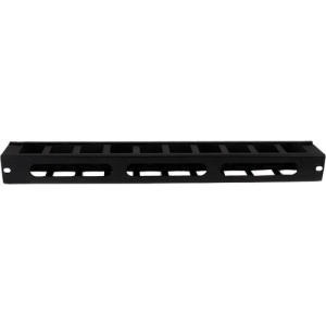 StarTech.com 1U Horizontal Finger Duct Rack Cable Management Panel with Cover - Server Rack Cable Duct - Rack Cable Organi