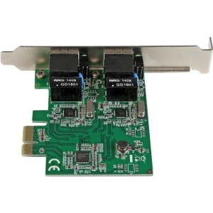 StarTech.com Dual Port Gigabit PCI Express Server Network Adapter Card - 1 Gbps PCIe NIC - Dual Port Server Adapter - 2 Po